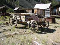 Ghost Town Custer Idaho wagon
